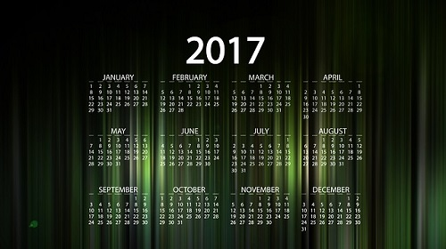 koledar 2017